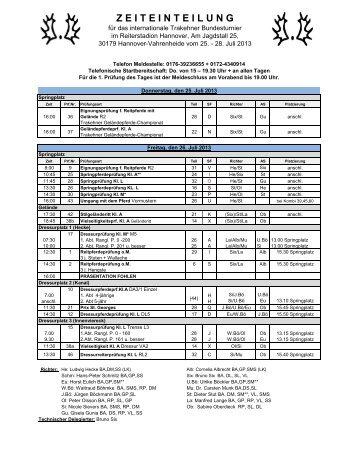 Zeiteinteilung (pdf) - Trakehner Verband