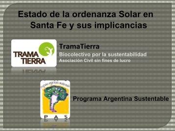Ordenanza Solar en SF (TramaTierra)