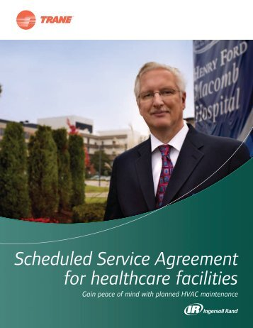 Scheduled Service Agreement for healthcare facilities - Trane