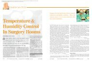 Temperature & Humidity Control In Surgery Rooms - Trane