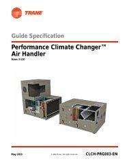 Performance Climate Changer™ Air Handler - Trane