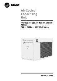 Air Cooled Condensing Unit - Trane