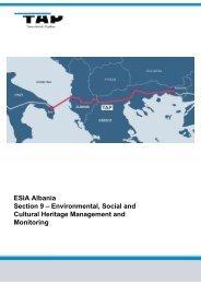 ESIA Albania Section 9 - Trans Adriatic Pipeline