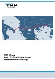 ESIA Albania Annex 5 - Trans Adriatic Pipeline