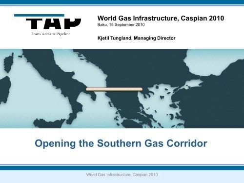 TAP Presentation - Trans Adriatic Pipeline
