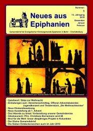 Dezember 2009 bis Februar 2010 - Epiphanien
