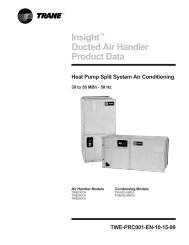 Insight™ Ducted Air Handler Product Data - Trane