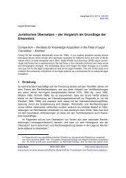Juristisches Übersetzen – der Vergleich als Grundlage ... - trans-kom