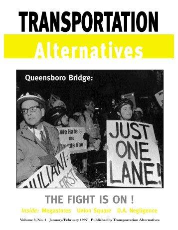 THE FIGHT IS ON ! - Transportation Alternatives