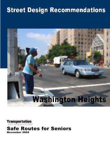 Safe Routes for Seniors, Washington Heights - Transportation ...