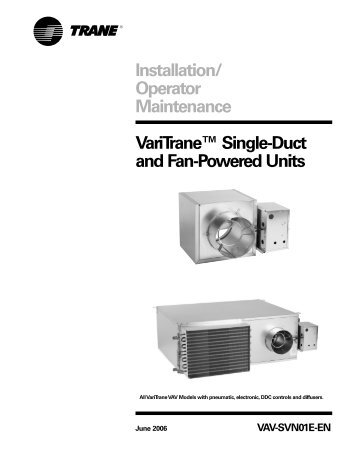 Trane Air Handler installation guide Example