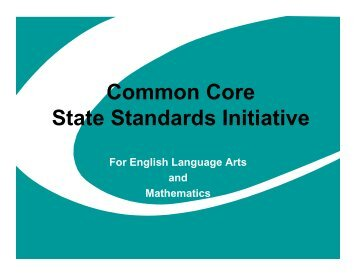 CC Common Core State Standards Initiative - Homepages Web Server