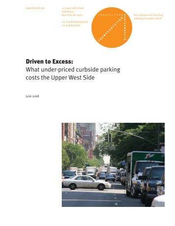 Driven to Excess - Transportation Alternatives