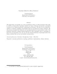 Topologies Defined by Binary Relations - University of Connecticut