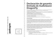 Declaración de garantía limitada de AudioQuest DragonFly