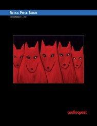 2011 Retail Price Book - Audioquest