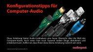 Konfigurationstipps für Computer-Audio - Audioquest