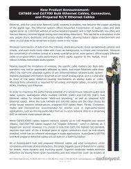 CAT600 and CAT700 Bulk Ethernet Cables ... - Audioquest