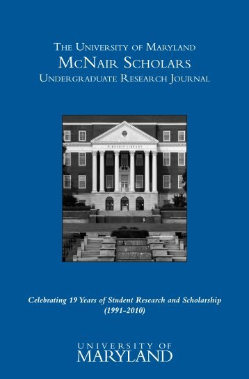 mcnair scholars - Academic Achievement Programs - University of ...
