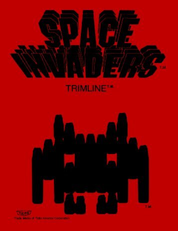 Page 1 Page 2 Page 3 SPACE INVADERS BLACK & WHITE TABLE ...