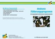 deukana Fütterungsprogramm