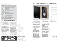 On-Wall Installation Speakers - Meridian Audio