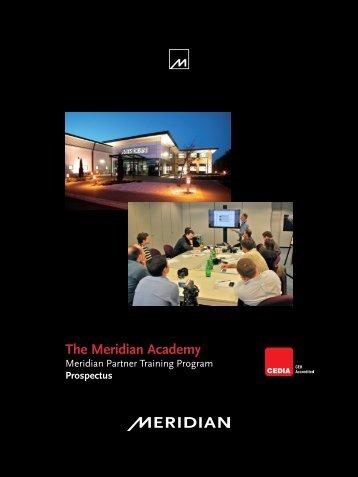 US Prospectus - Meridian Audio