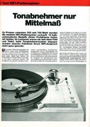 Tonabnehmer nur - NEW HiFi-Classic