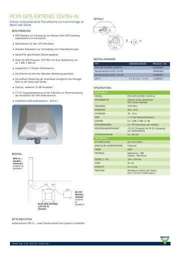 Procom - PCPI GPS EXTEND 12V/5V-N - BOS Antennen