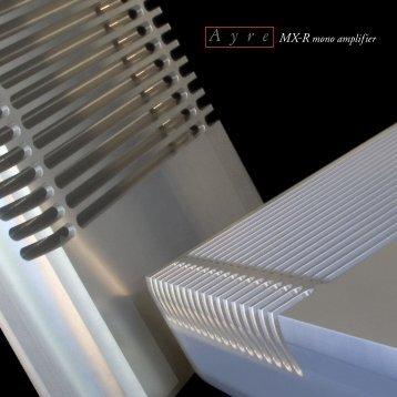 MX-R - Ayre Acoustics