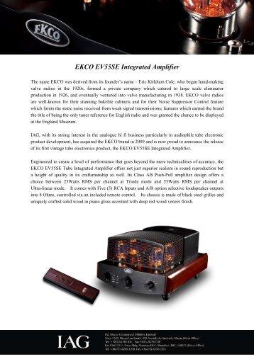 EKCO EV55SE Integrated Amplifier - Bel canto