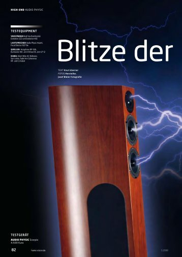 HomeVision - Audio Physic