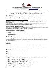 Antrag auf Beitritt/Beitrittserklärung in den Verein - Düsseldorf Panther