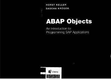 ABAP Objects An Introduction to Programming SAP ... - Trainning