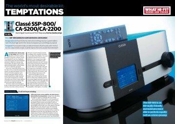 Classé SSP-800/ CA-5200/CA-2200 - Classé Audio