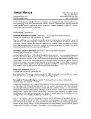 PDF resume - JAMdesigns