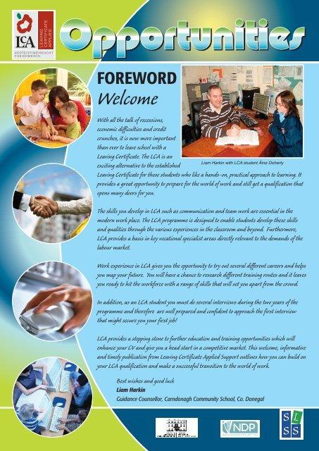 LCA Newsletter Dec 09 pdf - Leaving Certificate Applied