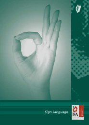 Sign Language - Leaving Certificate Applied