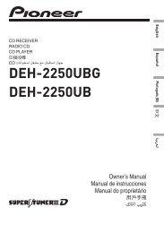 DEH-2250UBG DEH-2250UB