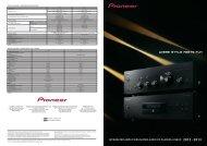 SPeCiFiCATiOnS - Pioneer UAE