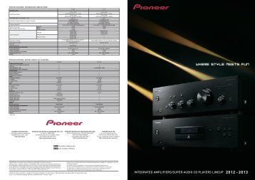 SPeCiFiCATiOnS - Pioneer UAE