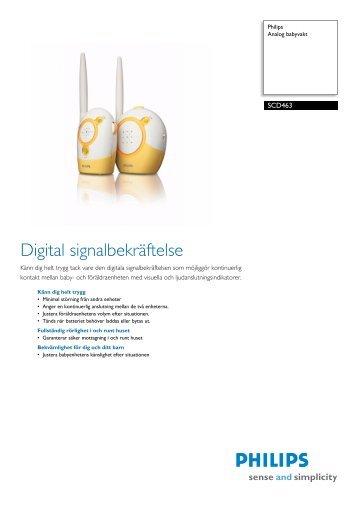 SCD463/00 Philips Analog babyvakt