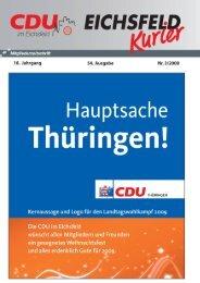 Eichsfeld-Kurrier Nr. 03 / 2008 - CDU Eichsfeld