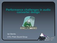 Performance challenges in audio converter design