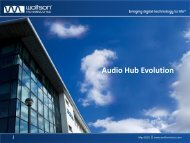 Audio Hub Evolution - Audio Engineering Society