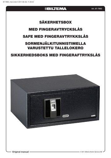 SäkerhetSbox med fingeravtryckSlåS Safe med ... - Biltema