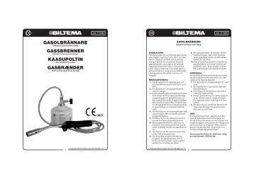 gasolbrännare gassbrenner kaasupoltin gasbršnder - Biltema