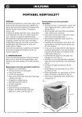 portabel kemtoalett portabelt kjemisk toalett kannettava ... - Biltema - Page 2