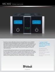 McIntosh MC402 Brochure PDF - Dr Hi-Fi House Calls