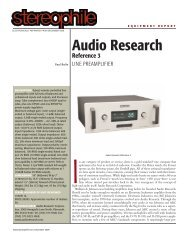 Audio Research Reference 3 - Dr Hi-Fi House Calls
